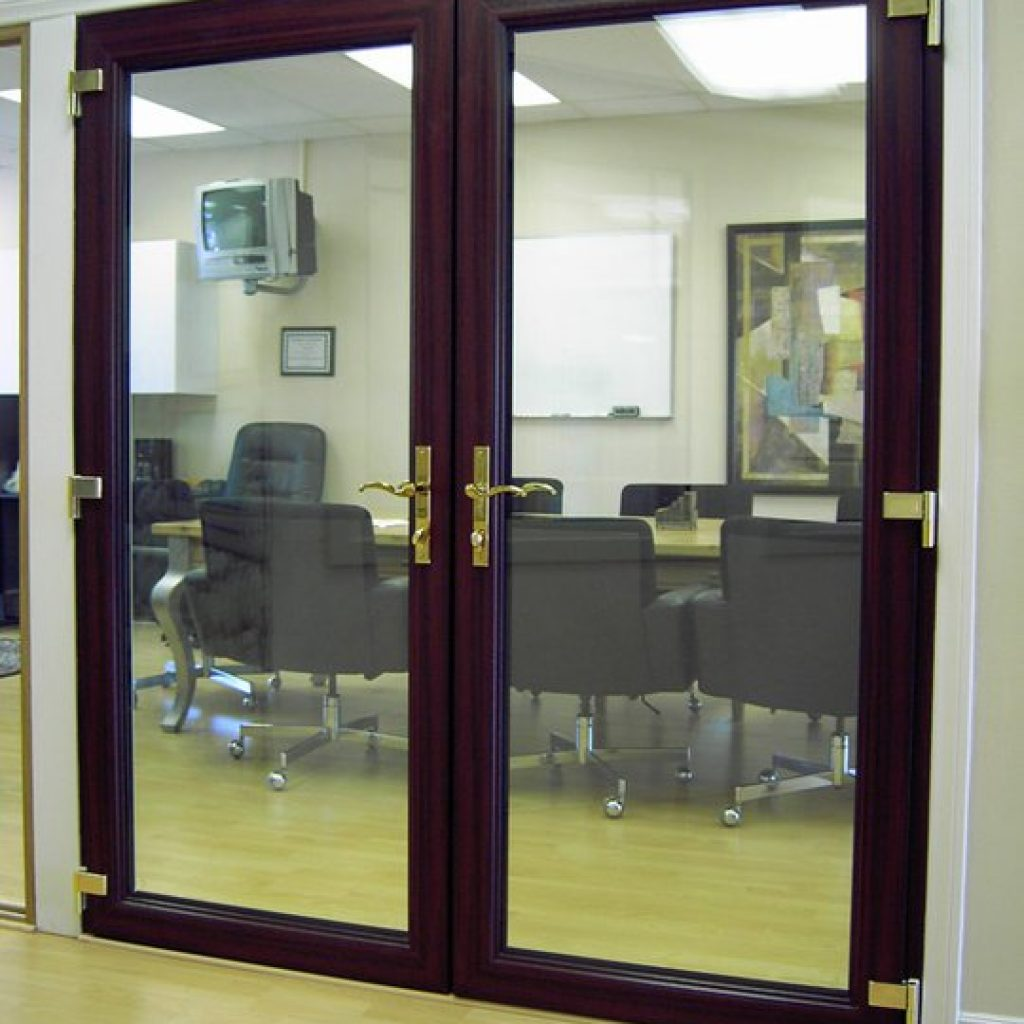 Wood Finish Double Door