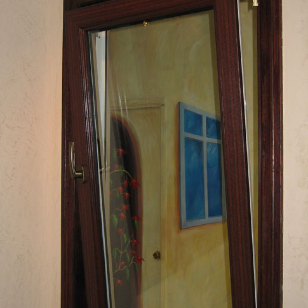 Wood Finish Window